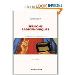 radiophoniques (French Edition) (9782360540273): Hakim Bey: Books