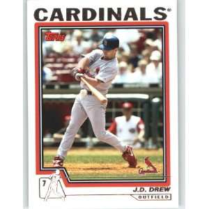 2004 Topps Baseball Card # 207 J.D. Drew   St. Louis Cardinals   MLB