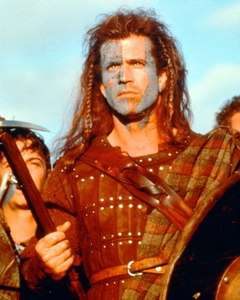 MEL GIBSON BRAVEHEART WITH WAR PAINT COLOR POSTER PRINT