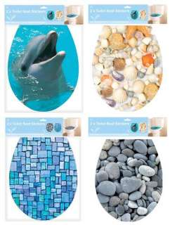 SEAT ADHESIVE COVERS DOLPHIN PEBBLES MOSAIC TILES OR SEA SHELLS