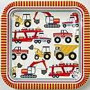 various themed childrens party paper plates by plush parties