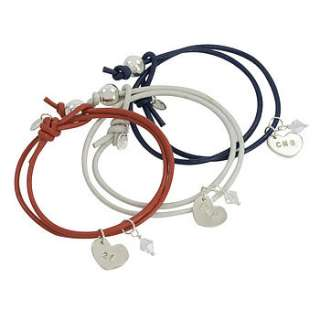 Limited Edition Jubilee leather friendship bracelet with solid silver