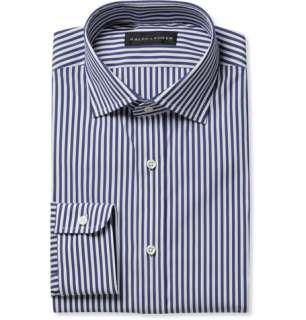 Ralph Lauren Black Label Spread Collar Bengal Stripe Cotton Blend