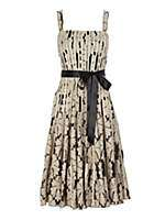 Black lace stripe prom dress