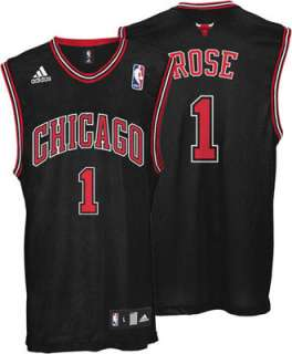 Derrick Rose Jersey adidas Black Replica #1 Chicago Bulls Jersey