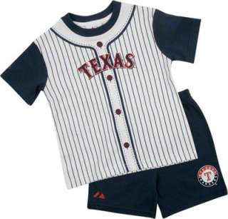 Texas Rangers Toddler Texas Pinstripe Short Set