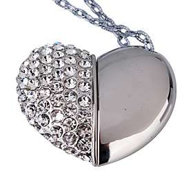 gb con forma de corazon usb flash drive collar plata 00107717 5