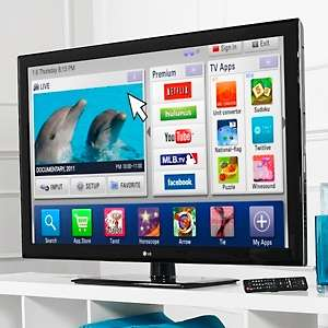 LG 55 Smart TV 1080p 120Hz Wi Fi LCD HDTV with Magic Motion Remote