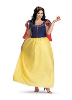 Deluxe Snow White Plus  Cheap Fairytale Halloween Costume for Plus