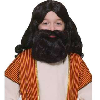Halloween Costumes Biblical Wig and Beard Set Child