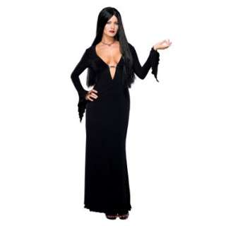 Halloween Costumes Addams Family Sexy Morticia Adult Costume