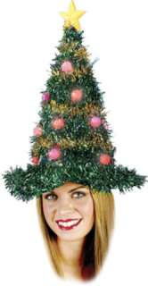 costumes in shopping cart christmas tree hat light up
