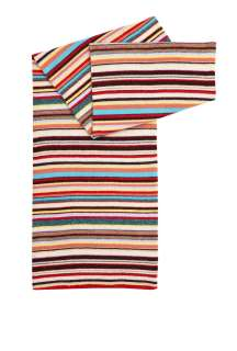 Multi Stripe Classic Knit Scarf by Paul Smith Accessories