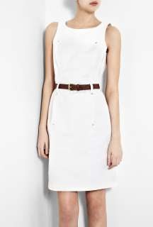 MICHAEL Michael Kors  White Sleeveless Boatneck Dress by MICHAEL
