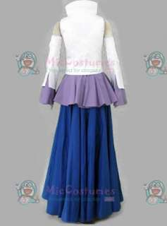Blue and white gundam seed lacus cosplay costume  Blue and white