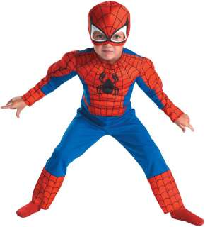 Spider Man Muscle Toddler Costume   Includes Jumpsuit, Mask. Does not