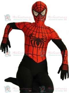 Black And Red Spider Man Lycra Spandex Super Hero Zentai Suit