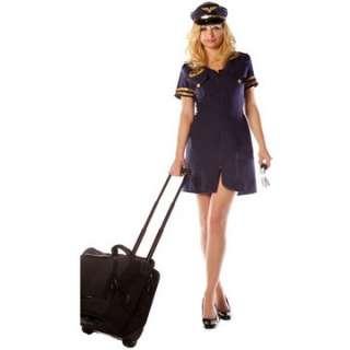 Adult Sexy First Class Costume   Flight Attendant Costumes   15UR28949