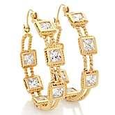 Justine Simmons Jewelry 12.26ct CZ Inside Outside Hoop Earrings