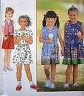 Simplicity Pattern 7717 Girls/Toddler, Romper Shorts Top Vest Dress