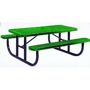 9205 Aluminum Picnic Table, 8 ft. Long Patio, Lawn & Garden