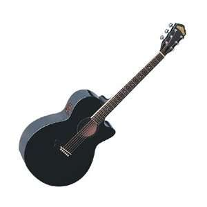 Washburn EA16 Acoustic Electric Guitar (Black Pearl