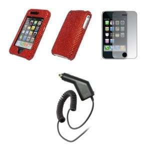 Premium Red Diamond Bling Design Snap On Cover Hard Case Cell Phone