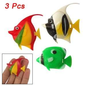 Pcs Multicolor Hard Plastic Tropical Fish for Aquarium: Pet Supplies
