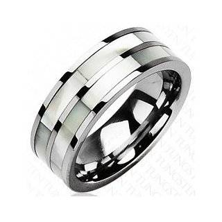 8 mm High Polish Tungsten Carbide Ring Wedding Band with