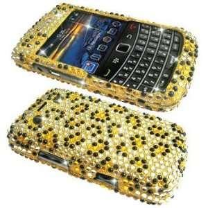 Leopard Rhinestone Bling Hard Case / Cover / Shell for RIM BlackBerry