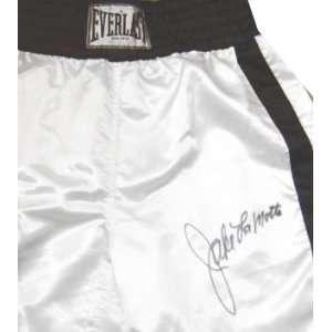 Jake LaMotta Autographed Everlast Boxing Trunks with