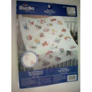 Bucilla Baby Quilt Top Alphabet Dreams Stamped Cross Stitch 34 x 42