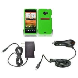 LTE (Sprint) Premium Combo Pack   Neon Green Silicone Skin Case Cover