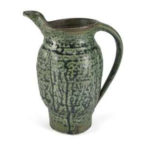 Holman Pottery Handmade Ceramic 1 Quart Pitcher, Eco Ash