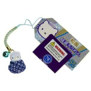 Hello Kitty Blue Shell in a Crape Mini Figure Bell Charm Toys & Games