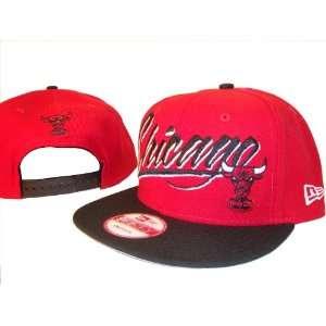 Chicago Bulls New Era 9Fifty Red & Black Adjustable Snap Back Baseball