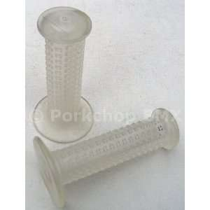 AME CAM Old School BMX Bicycle Grips   CLEAR Sports