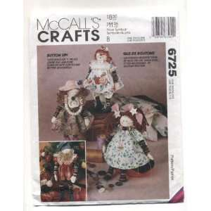 Crafts Button Dolls Sewing Pattern # 6725 Arts, Crafts & Sewing