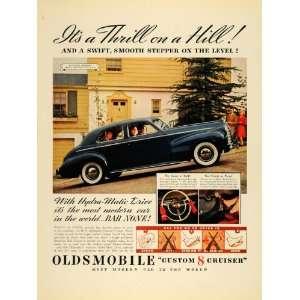 1940 Ad Oldsmobile Custom 8 Cruiser Automobile Car