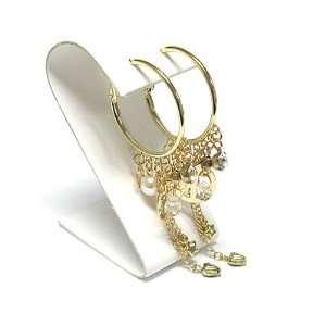 Gold Crystal Faux Pearl Tassel Drop Dangle Earrings Fashion Jewelry