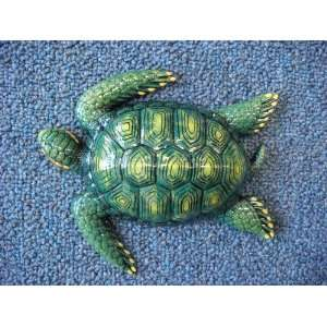 Tropical Fish Decor Wall Hanging Plaque Sea Turtle 6 Inc