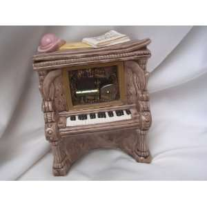 Piano Music Box Porcelain Doll House Furniture Vintage 5 Collectible