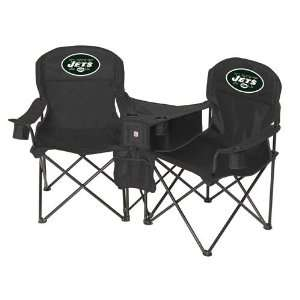New York Jets NFL Deluxe Folding Conversation Arm Chair by