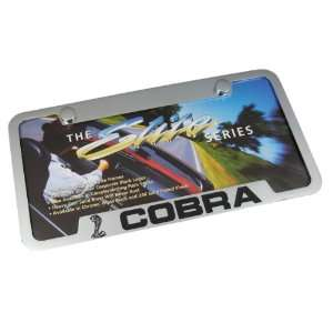 Ford Mustang Cobra Notched Chrome Brass License Plate Frame