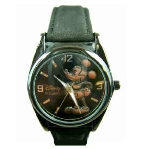 Watch   Disneys Mickey Mouse Watch With Black Leather Band Toys
