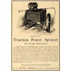1906 Ad E.C. Brown Traction Power Sprayer Model No. 23