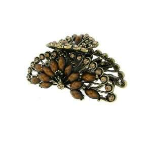 Fashion Hair Accessory ~ Brown Crystals with Acrylic Gems