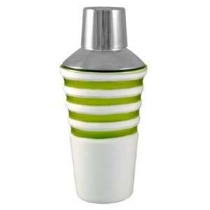 Green Horizon White Glass Martini Shaker