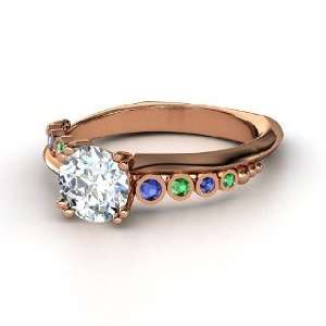 Isabella Ring, Round Diamond 18K Rose Gold Ring with