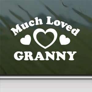 Much Loved Granny White Sticker Car Vinyl Window Laptop